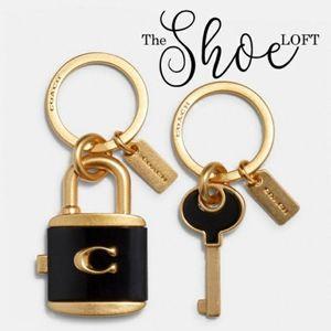 Coach Vintage Lock & Key Bag Charm Key Ring